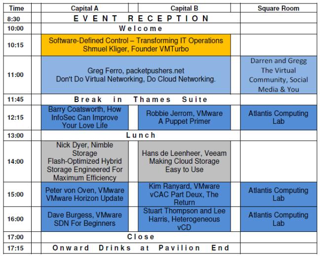 VMUG Agenda