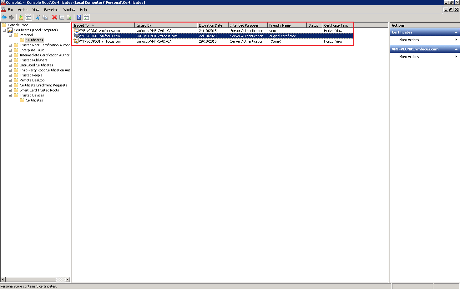 How to replace horizon view connection security server horizon view uses the vdm tag to identify which certificates it should use as you can see i have renamed my original certificate 1betcityfo Images