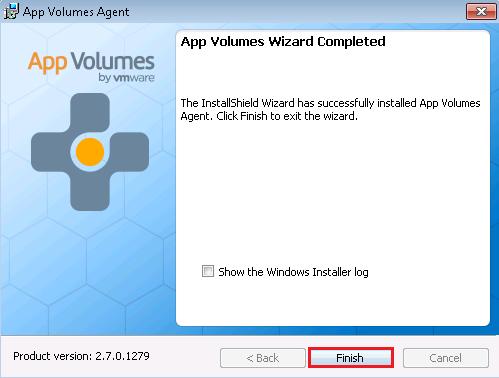 Installing app volumes agent vmfocus agent05 ccuart Choice Image