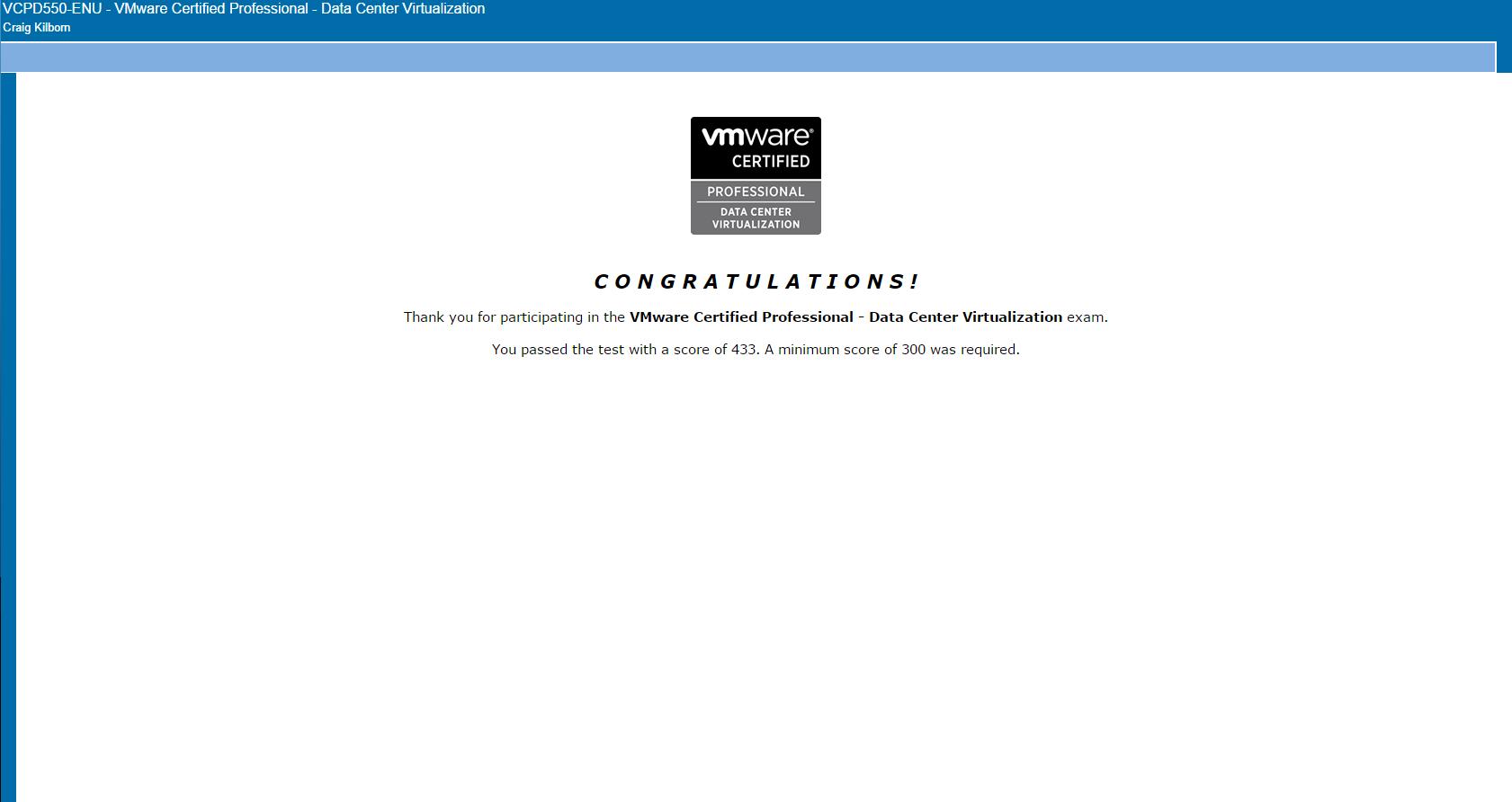 Certification vmfocus vcp 550 delta pass xflitez Images