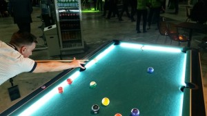 Fellow VMworlder Craig Kilborn, beating me at pool, 3 times.