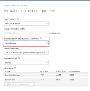 VM Configuration No Subnet