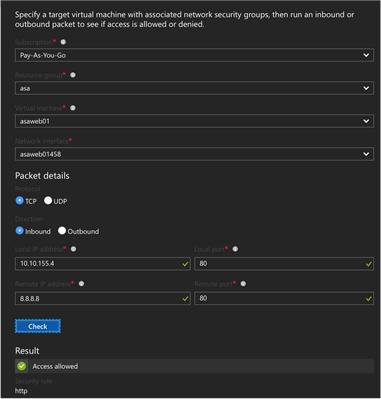 Azure Network Watcher Vmfocus
